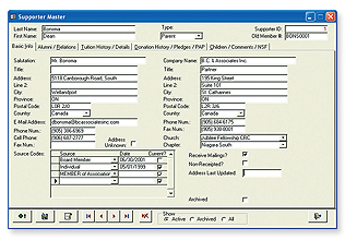 Donor Manager Donation Tracking Software